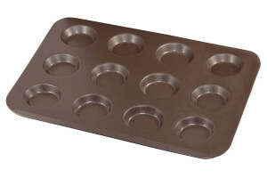 Plaque à 12 mini tartelettes Gobel anti-adhérent