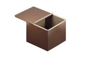 Moule à pain de mie et pain surprise carré Gobel anti-adhérent avec couvercle 20x20cm