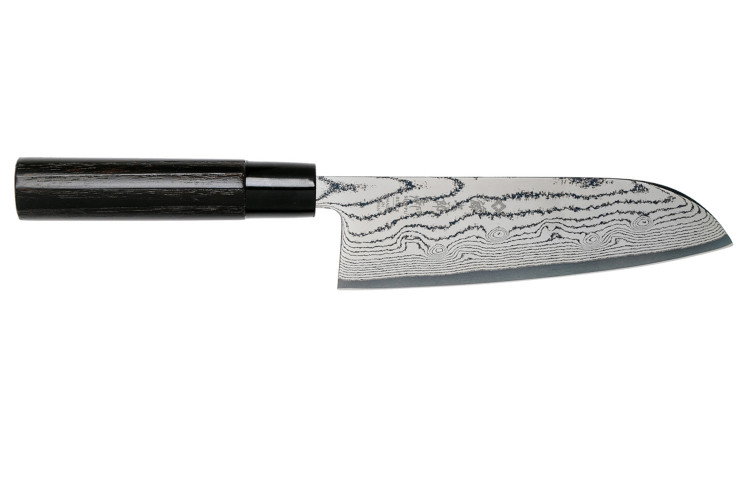 Couteau Santoku Tojiro Shippu Black damas lame 16,5cm