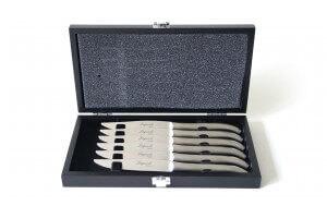 Coffret Laguiole Pradel 6 couteaux forgés 11cm élégants et micro-dentés - Reconditionné