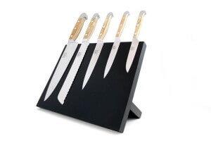 Bloc couteaux magnétique noir GÜDE en bois de hêtre vide - Reconditionné