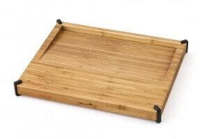 Planche à découper Déglon en bambou avec surface inclinée pour les jus de cuisson - Reconditionné