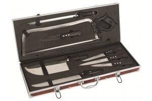 Malette boucherie 9 couteaux et accessoires Au Nain 3 rivets reconditionnée