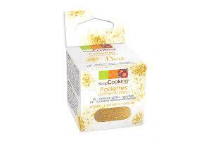 Paillettes alimentaires dorées Scrapcooking 5g