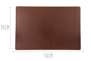 Planche à découper polyéthylène marron HD500 avec pieds 50x30cm
