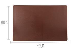 Planche à découper polyéthylène marron HD500 avec pieds 60x40cm