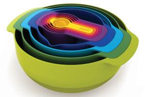 Set de 9 bols/passoires/doseurs Joseph Joseph Nest Plus 9 emboîtables multicolores