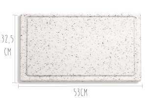 Planche de découpe DICK marbrée 53x32,5x2cm