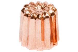 Moule à cannelé en cuivre diamètre 55mm