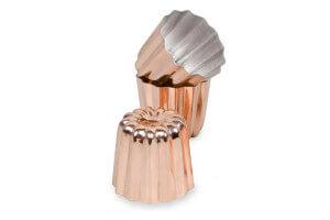 Set de 3 moules à cannelés bordelais en cuivre 5,5 cm