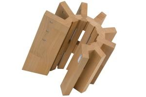 Bloc vide Artelegno Pisa bois de hêtre pour 8 couteaux de cuisine reconditionné