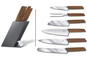 Bloc 6 couteaux de cuisine Victorinox Swiss Modern manches noyer