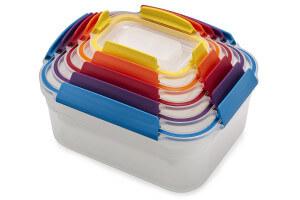 Set de 5 boîtes de conservation Joseph Joseph Nest Lock multicolores + couvercles