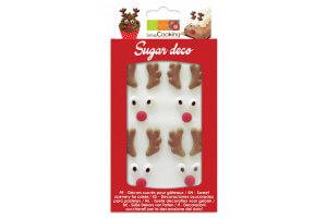 Décorations en sucre Scrapcooking - Têtes de rennes
