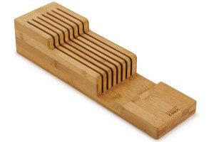 Range-couteaux à 2 niveaux Joseph Joseph DrawerStore Bamboo pour tiroir
