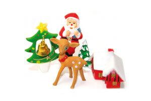 Set 4 décorations de Noël Scrapcooking - Tradition