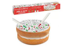 Rouleau pâte à sucre à colorier Scrapcooking Noël 110g avec feutres alimentaires