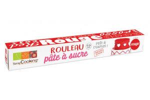 Rouleau pâte à sucre rouge Scrapcooking 430g