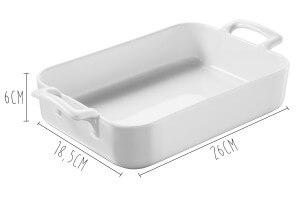 Plat rectangulaire Revol Belle Cuisine 26x18,5cm en porcelaine blanche
