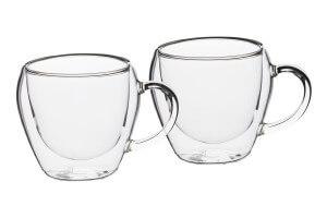 Set de 2 tasses à thé en verre à double paroi Le'Xpress 250ml
