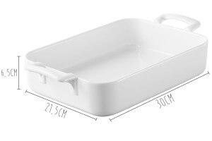 Plat rectangulaire Revol Belle Cuisine 30x21,5cm en porcelaine blanche