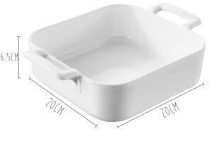Plat carré profond Revol Belle Cuisine 20x20cm en porcelaine blanche