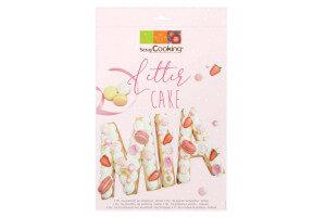 Kit letter cake Scrapcooking 26 gabarits lettres - Réutilisable