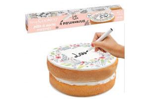 Rouleau pâte à sucre à personnaliser Scrapcooking Flower 110g avec feutre alimentaire