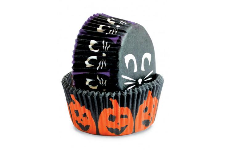 Set d'environ 36 caissettes à muffins ou cupcakes Scrapcooking Halloween