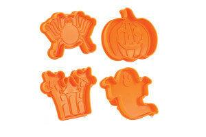 Kit de 4 découpoirs éjecteurs Scrapcooking Halloween