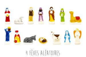 Set 4 fèves santon pour galette des rois