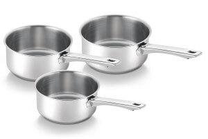 Set de 3 casseroles Beka Lausanne en inox 16, 18 et 20cm