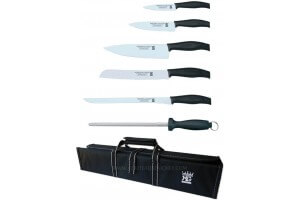 Malette 5 couteaux + 1 fusil Martinez & Gascon