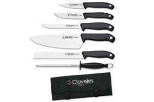Valise de 5 couteaux EVO pour cuisiniers + fusil 3 Claveles