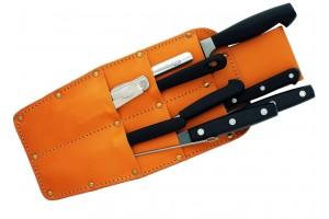 Carquois en cuir Au Nain 10 couteaux et accessoires