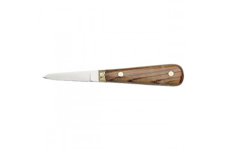 Couteau à huitre lancette manche palissandre lame inox