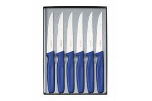 Coffret 6 couteaux à steak Victorinox - Manche bleu
