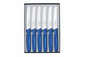 Coffret 6 couteaux de table Victorinox - Manche bleu