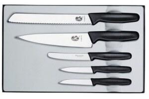 Coffret Cadeau 5 couteaux Victorinox Manche noir