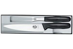 Coffret couteaux découpe 2 pieces Victorinox Manche noir