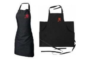 Tablier de cuisine noir réglable KAI SHUN logo brodé rouge