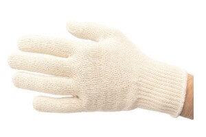 Sous gant coton écru tricoté pour gants cotte de maille