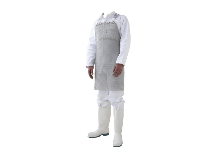 Tablier de protection en cotte de maille inox 56 x 75 cm