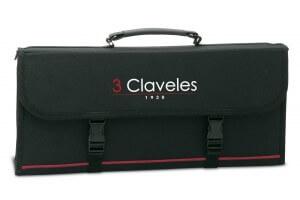 Malette nylon rigide pour 17 couteaux et accessoires 3 Claveles