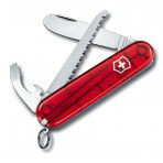 Couteau suisse 5 pièces My first Victorinox 2 Rouge translucide Manche 84mm