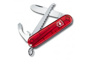 Couteau suisse Victorinox My First 2 rouge translucide 84mm 9 fonctions