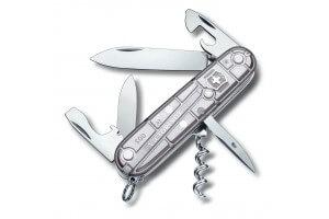 Couteau suisse Victorinox Spartan Silvertech gris argenté translucide 91mm 12 fonctions
