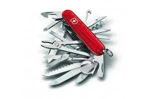 Couteau suisse Victorinox Swisschamp rouge translucide 91mm 33 fonctions