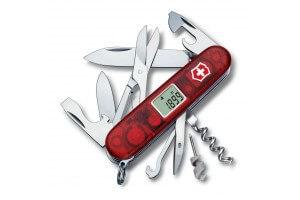 Couteau suisse Victorinox Traveller rouge translucide 91mm 28 fonctions