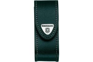 Etui cuir noir Victorinox pour couteaux suisses 9,1cm - 6 à 14 pièces